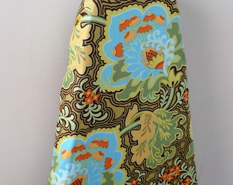Ironing Board Cover - pale green gothic rose Amy Butler