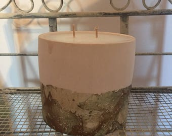 Marble Effect Candle,Scented in Orange & Lemon Drizzle