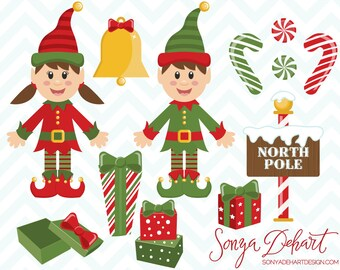 80% OFF SALE Elf Clipart, Christmas Clipart, Clipart Elf, Holiday Clipart, Clipart Christmas, Elf Clip Art, Christmas Clip Art