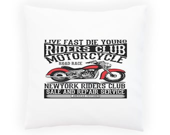 Riders Club American Motorcycle Pillow Cushion Cover aa171p
