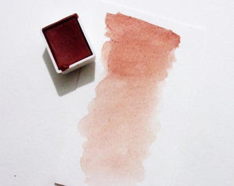 Pink Pipestone - Handmade Watercolor Paint - Art Supply - Artist Gift - Art Paint - Handcrafted Professional Watercolour