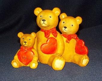 "Three Bears, 1984 Schmid, Gordon Fraser Pottery, ""I Think You're Grrreat"""