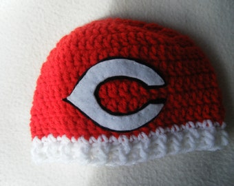 Crocheted Reds Inspired Beanie/Hat - MADE TO ORDER - Handmade by Me