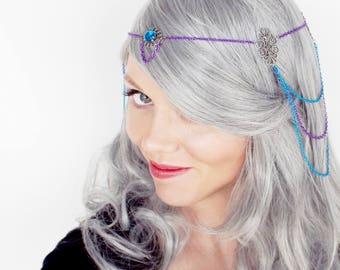 Fun and Funky Blue and Purple Circlet