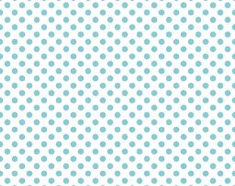 Riley Blake Fabric - Fabric by the Yard - Modern Fabric - Quilt Fabric - Fat Quarter - Yardage - Aqua Dot Fabric - Polka Dot Fabric