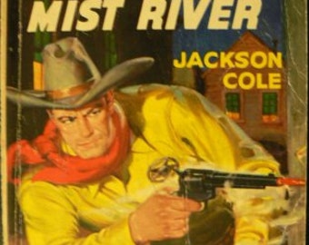 vintage paperback ... GUNS of MIST RIVER by Jackson Cole ...
