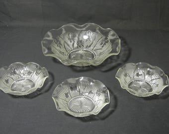 Iris and Herringbone Bowl Set