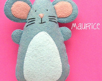 Maurice - felt mouse pattern (instant download digital PDF pattern)