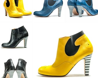 Handmade women's Chelsea ankle boots/ High heel booties/ Heels/ Designer shoes/ Women's shoes/ Unique shoes/Ankle boots/ FREE SHIPPING