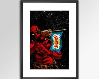 Deadpool 2018 - V3 - Digitally Painted Tribute  - PRINTED - BUY 2 get 1 Free