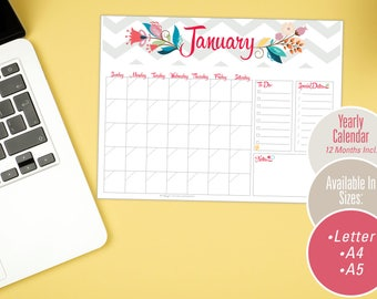 Monthly Calendar Pages