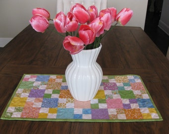 CLOSE OUT SALE Spring / Summer Quilted Table Runner / Topper