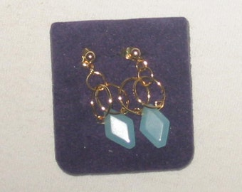 Powder Blue Quartz handgemachte Ohrringe...
