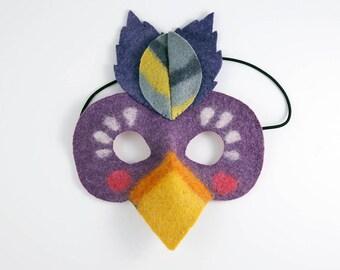 Felt Toucan Mask, Carnival Dance Toucan Mask, Felt Children's Mask