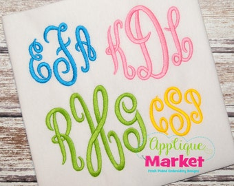 Machine Embroidery Design Embroidery Regal Monogram Font INSTANT DOWNLOAD