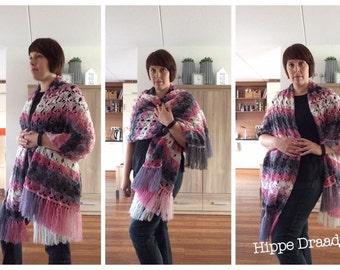 Summer Love Shawl US crochet pattern