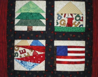 small wall in patchwork for child's room
