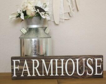 Farmhouse wood sign decor