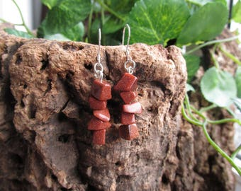 Earrings with gold rhinestones