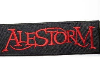 """ALESTORM  Heavy Metal Iron On Embroidered Patch 4.9""""x1.5"""""""