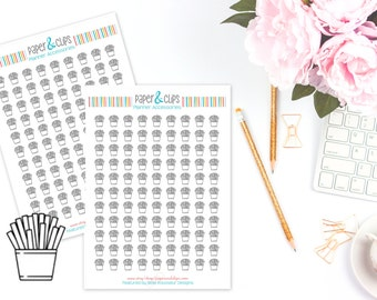 99 French Fries Sticker sheet, Reminder Stickers, Clear Planner Stickers, Transparent stickers