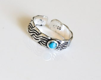 Toe Ring, 925 Toe Ring, Turquoise Toe Ring,, Silver Toe ring, 925 Silver Toe ring; Knuckle Ring