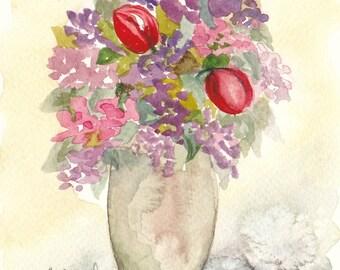 bouquet 30 - original watercolor painting