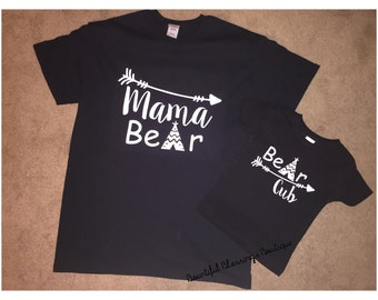 Mama Bear & Bear Cub Tshirt Bundle!