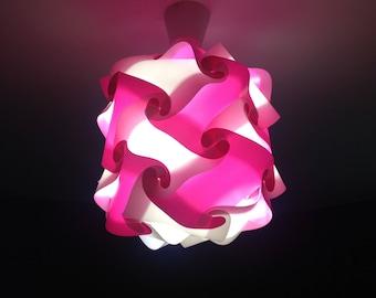 Luminaire Lantern Rose and white lamp puzzle