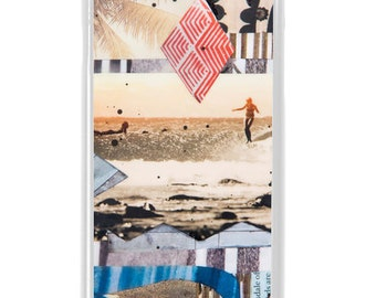 NEW iPhone 7/7+ Case, LARK, New, Belinda Baggs, Beach, Surf, Surf Art, Wood, Water, Longboard, Art, Avail. with Black or White case color