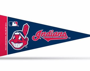 """Cleveland Indians MLB Licensed Mini Pennant, 4"""" x 9"""""""