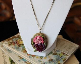 Fairy Tale Locket Secret Garden Book Geek Girl Necklace