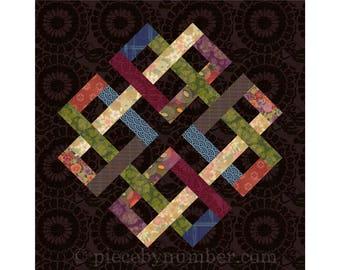 Zentricity II - paper pieced quilt block pattern, celtic knot quilt pattern, medallion, foundation piecing