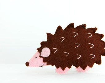 Felt Plushie Hand sewing Pattern PDF. Complete instructions to make Mr Prickles the Hedgehog. Instant download.
