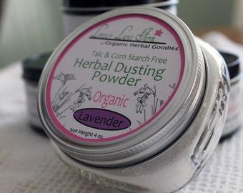 Lavender Body Powder, Herbal Lavender powder, cotton powder puff included, talc,corn starch and gluten free. Organic Powder