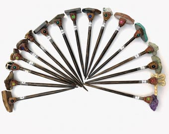 Hairsticks,  Dramatic Hair Sticks, Druzy hairsticks, Unique hairsticks