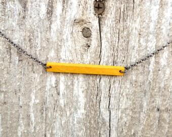 Bar Necklace - Yellowheart Hardwood