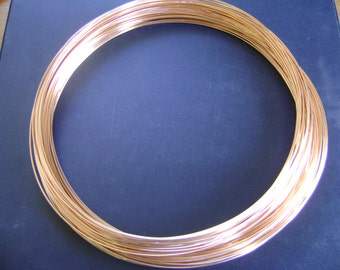 FREE SHIPPING 3Ft 22g 14K Rose Gold Filled Round Wire DS (4.31/Ft Includes Free Shipping)
