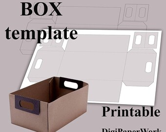 Box template Printable box Digital box Paper box DIY Letter A4 A3 A2 PNG PDF file Personal and Commercial Use