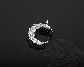 E862-20pcs-Rhodium Plated