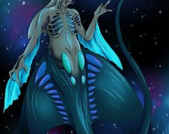"Spacemaid Series: ""Manta"" Digital Print"
