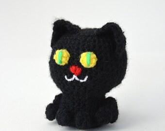 Black Cat Crochet Pattern, Black Cat Amigurumi, Amigurumi Cat, Halloween Cat Crochet Pattern, Halloween Amigurumi, Halloween Crochet Pattern