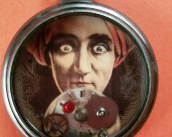 OOAK Fortune Teller Steampunk Pocket Watch Necklace