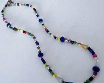 Multicolor bead necklace # 3