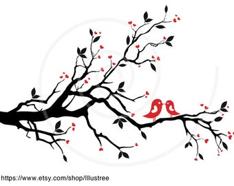 Wedding tree, wedding invitation, guest book, wedding gift, gift for couples, love card, art print, wall art, EPS, SVG, instant download
