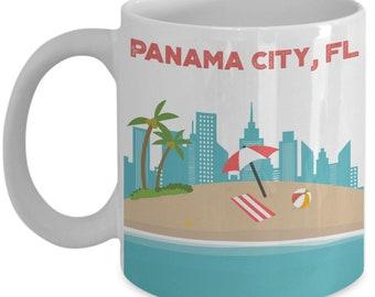 Panama City Mug - Panama City Beach Coffee Mug - Funny Tea Hot Cocoa Cup - Novelty Birthday Christmas Anniversary Gag Gifts Idea
