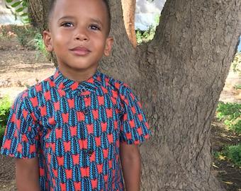 Boys shirt 'Fall in summer'