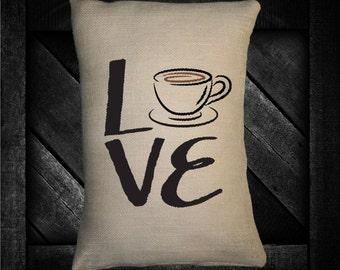 "Coffee Love  12""x16"" Pillow Set"