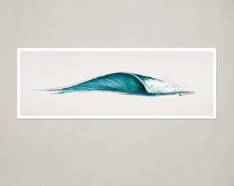 """Surf Art Print: """"6ft. Peak"""" Wave"""