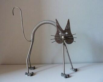 """Sculpture """"Surprised cat"""""""